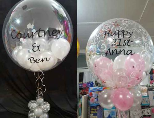 Personalised bubbles from $40.00