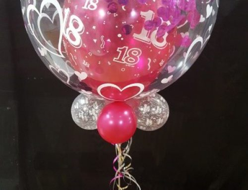 11 x balloon bubble with confetti, collar and base $40.95