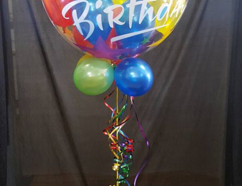 Colourful Birthday Bubble and base $36.96