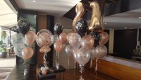 Balloon, rosegold, bunch