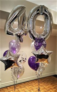 foil, star, balloon, number