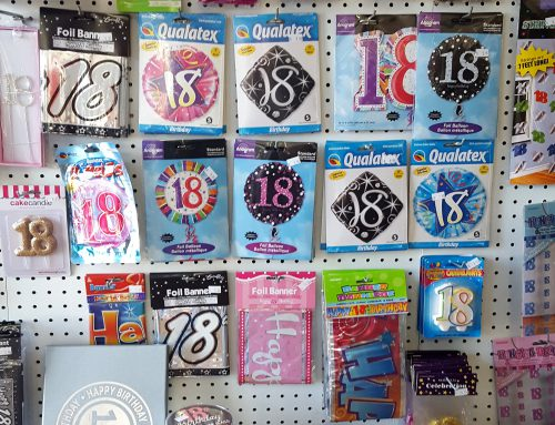 18th Birthday decorations: Balloons, Cake Toppers, Sashes, Banners, Wish Jars, Signature Books, Serviettes, Wine Glasses