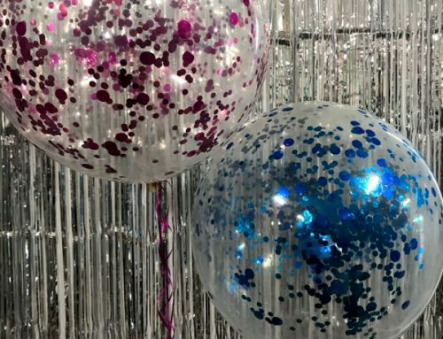 Clear confetti balloons 90cm (3ft) $39.95 ea