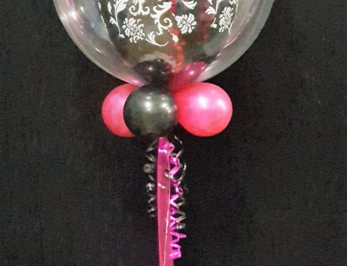 Light Up (1) balloon Bubble with Base $55.00