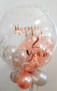 Bubble balloon, personalise balloon, name balloon, clear balloon