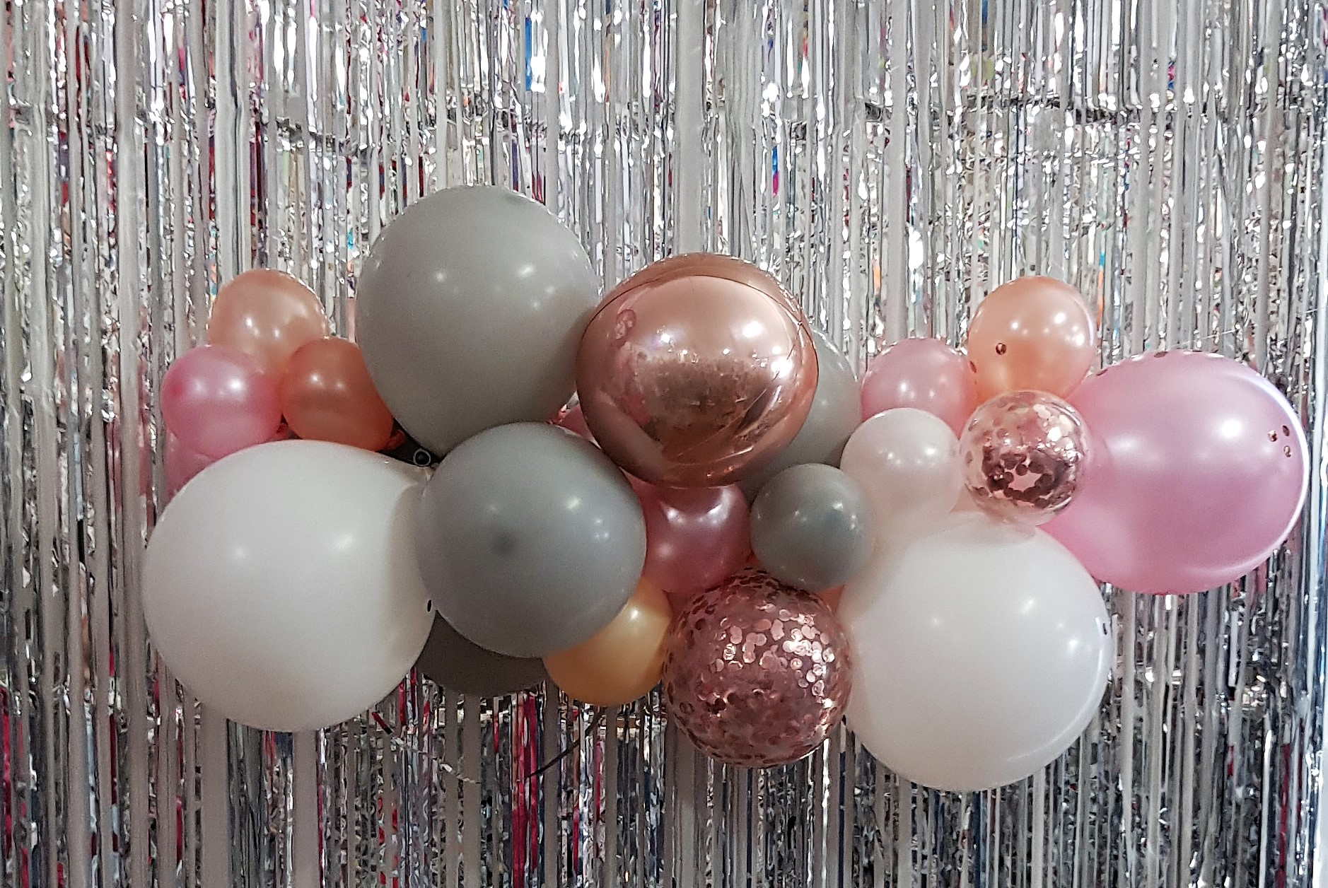 Balloon garland, Organic balloon garland
