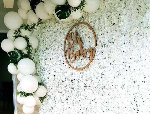 Flower Wall White $295 Delivered (Cond apply, does not include garland)