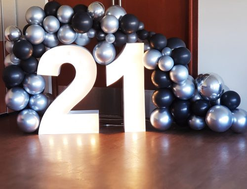 Birthday garland with numbers. Prices vary.