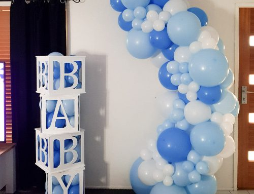 Blue Baby Shower 2m Garland and Box Stack $325