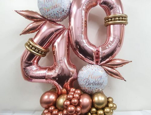 Deluxe Rose Gold 40th Birthday Statement Piece $130